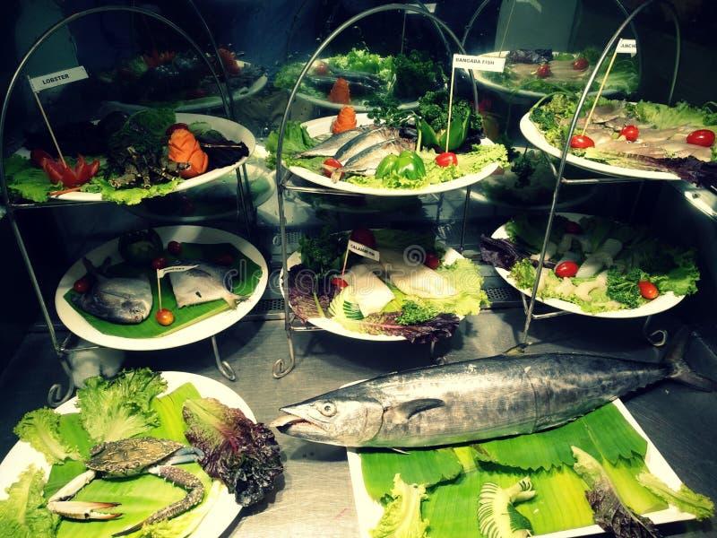 Poisson frais et x28 ; Seafood& x29 ; images libres de droits
