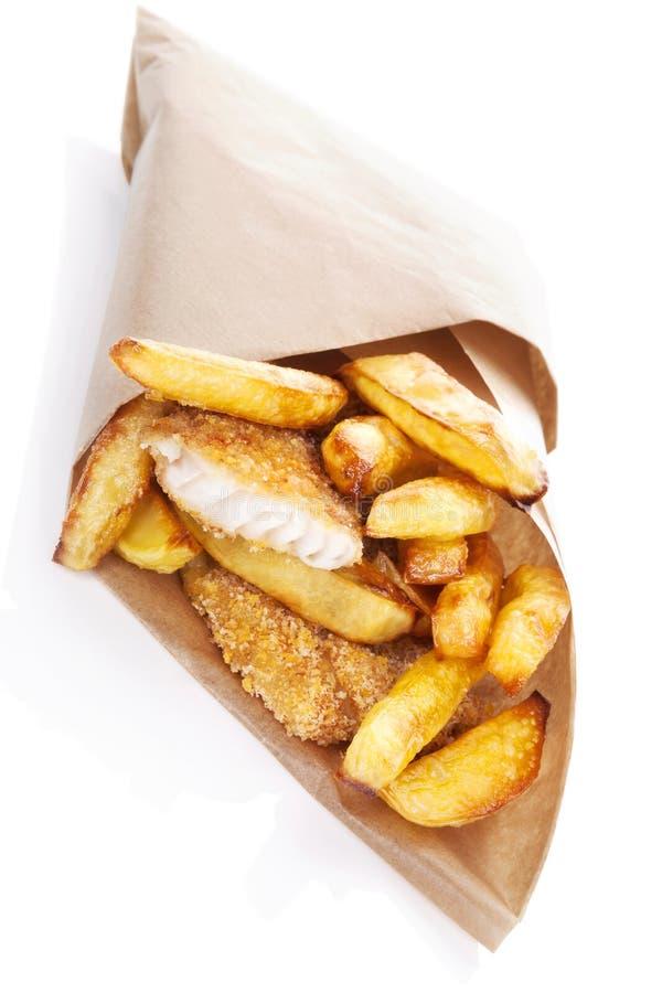 Poisson-frites. photo stock