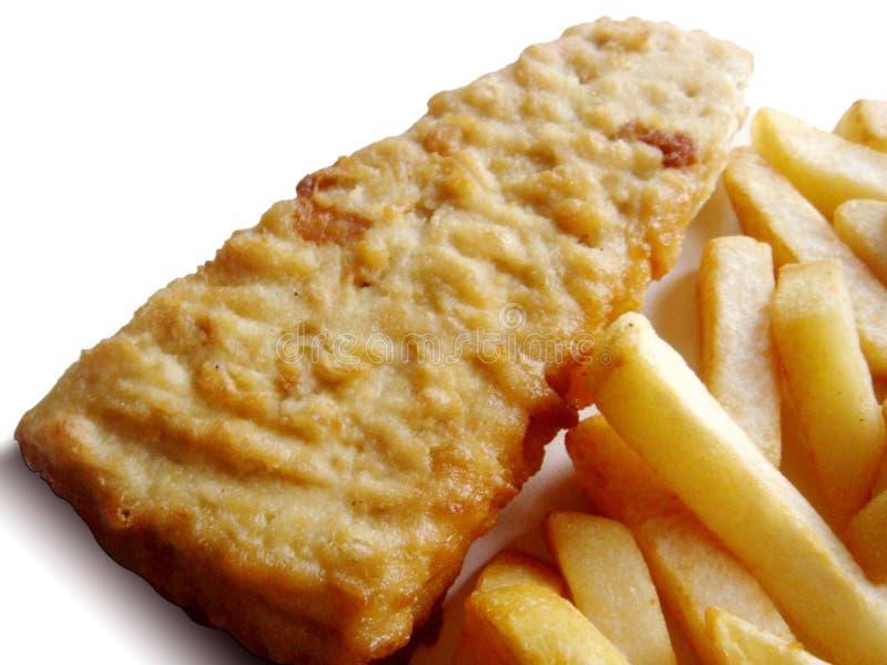 Poisson-frites images stock
