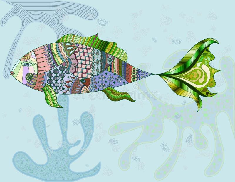 Poissons abstraits. Illustration de vecteur. illustration stock