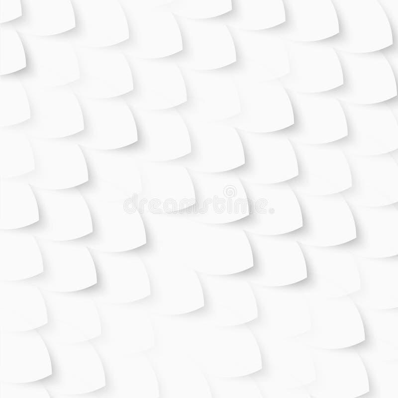 Poissons blancs de vecteur, échelles abrégez le fond illustration stock
