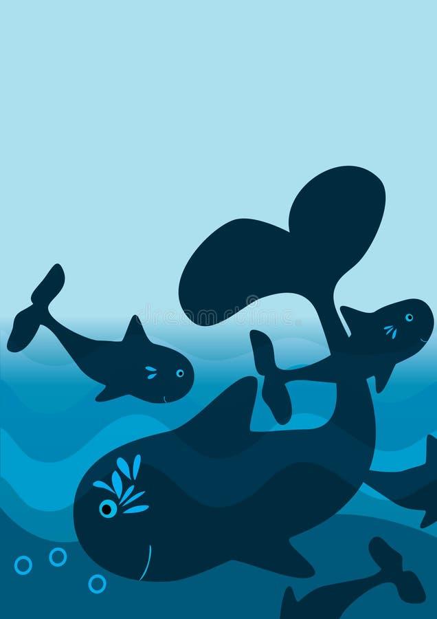 Poissons bleus abstraits illustration de vecteur