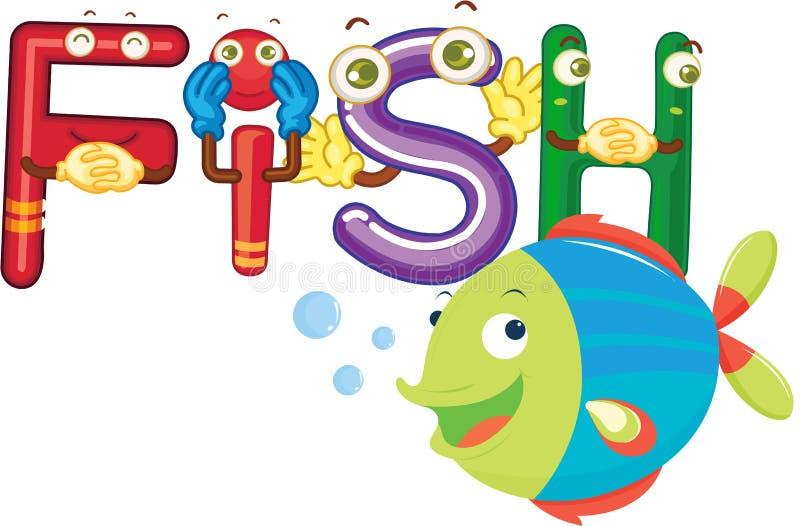 poissons d'alphabet illustration libre de droits
