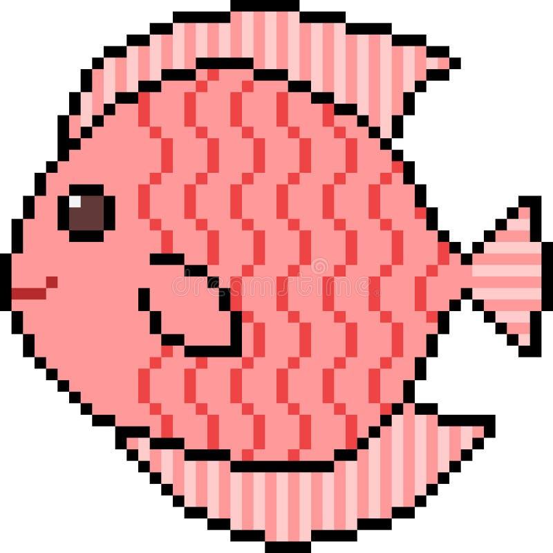 Poissons d'art de pixel de vecteur illustration libre de droits