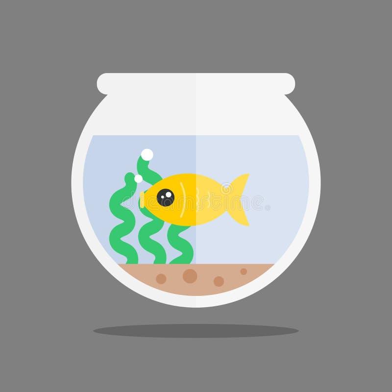 Poissons dans un aquarium Style plat moderne illustration libre de droits