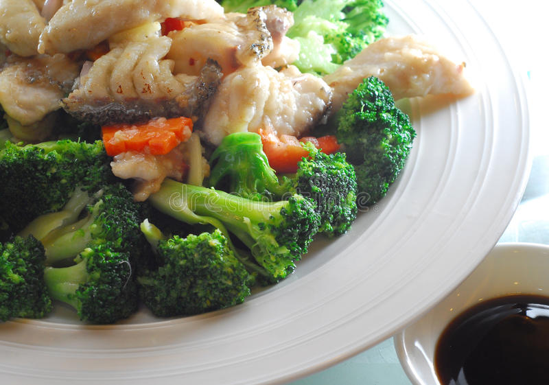 Poissons de broccoli image stock