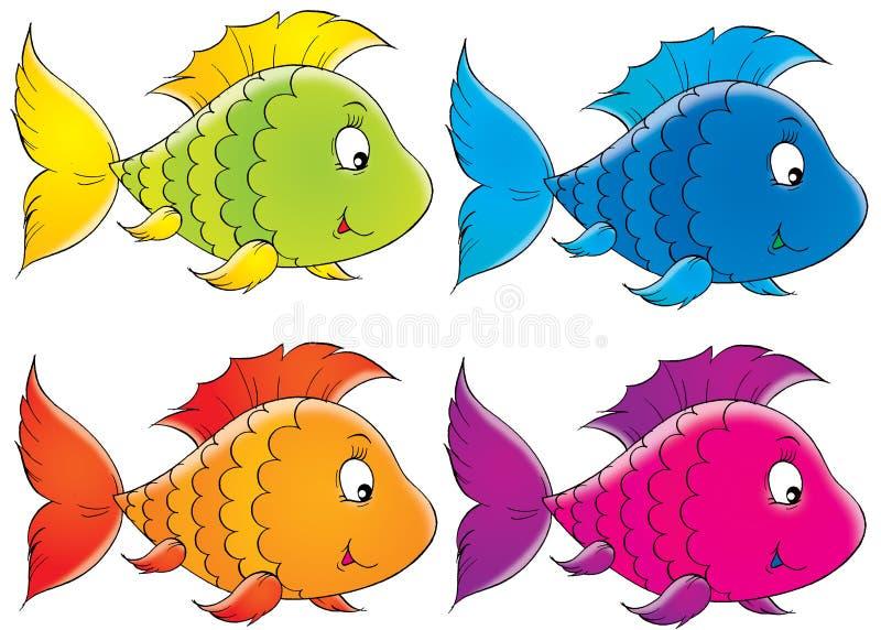 Poissons de corail illustration stock