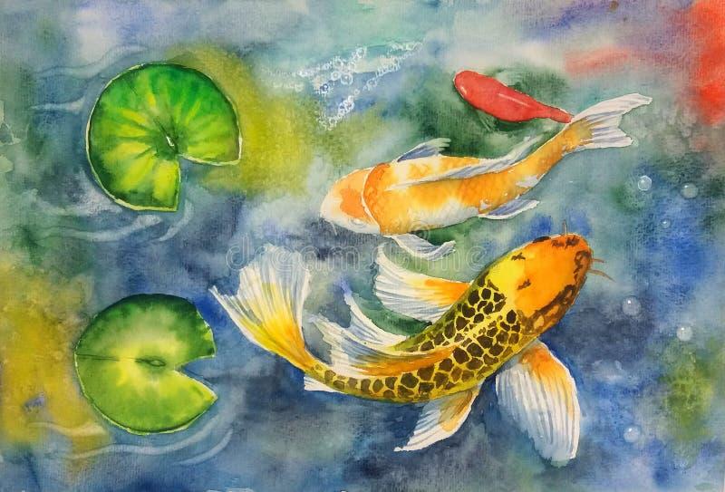 Poissons de Koi illustration stock