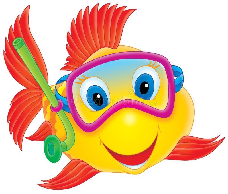 poissons de plongeur illustration libre de droits