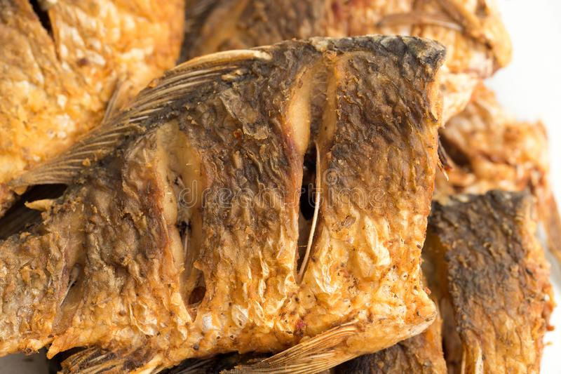 Poissons frits photographie stock