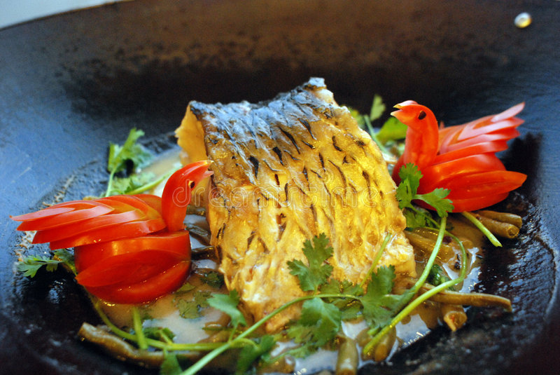 Poissons frits photos stock