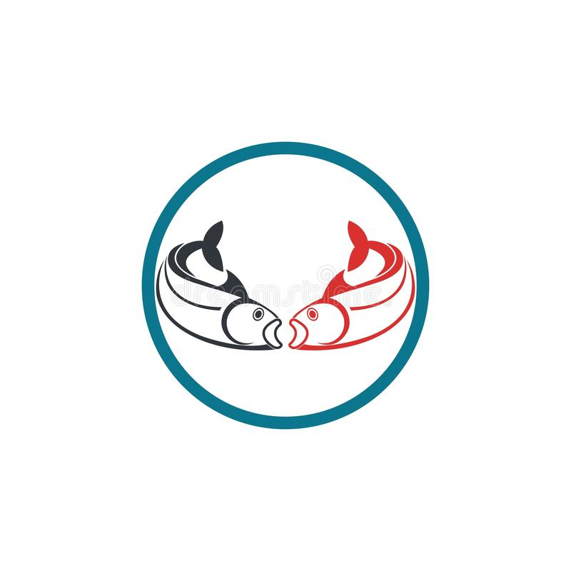 Poissons Logo Template illustration stock
