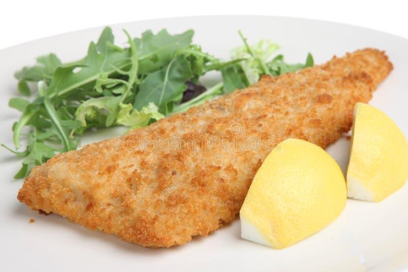 poissons panés de filet frits photographie stock