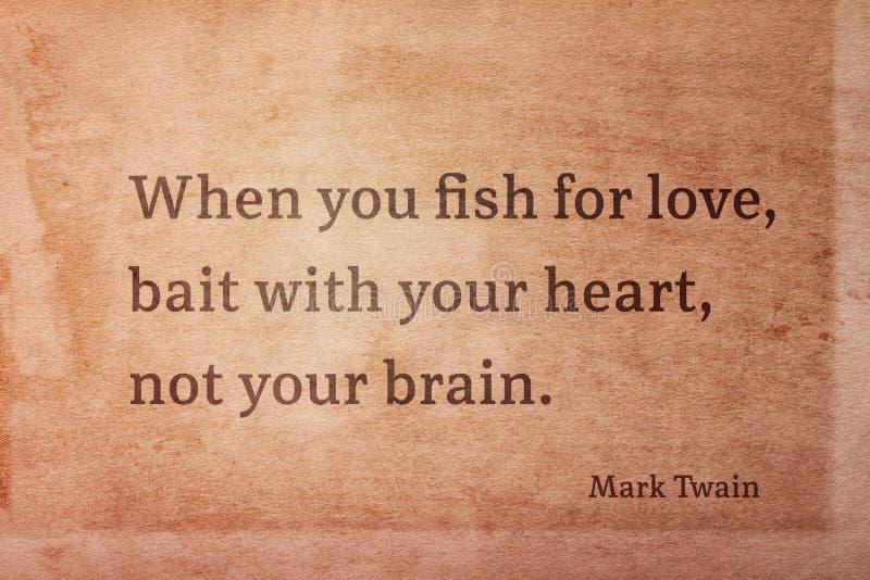 Poissons pour l'amour Twain image libre de droits