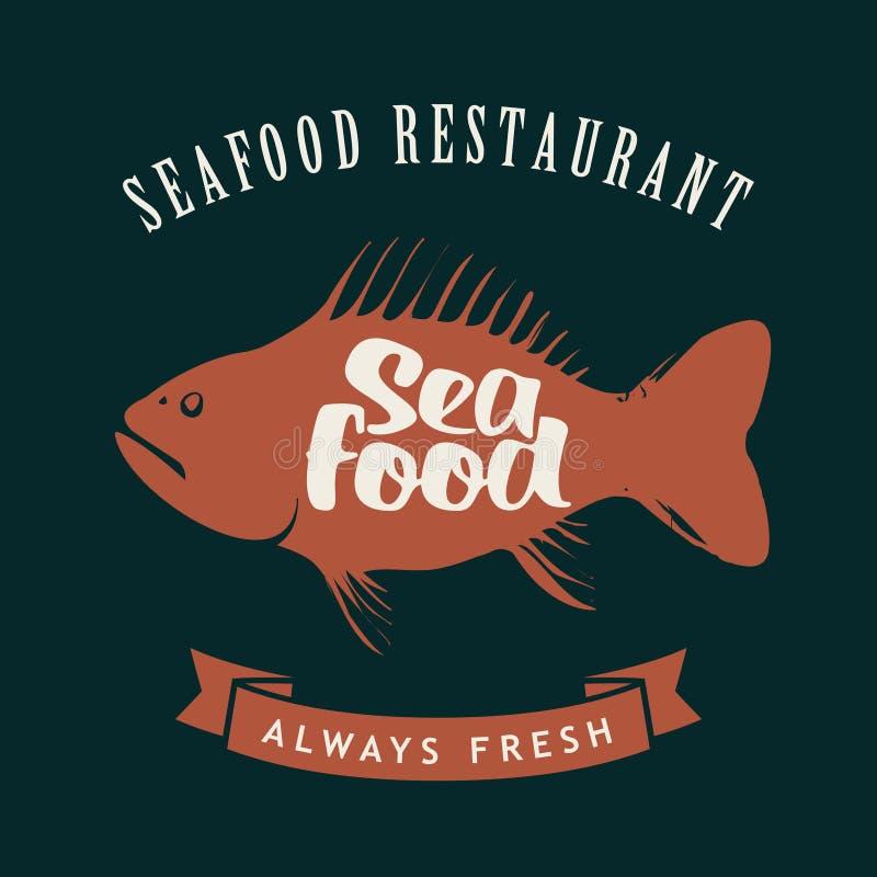 Poissons pour le restaurant de fruits de mer illustration libre de droits
