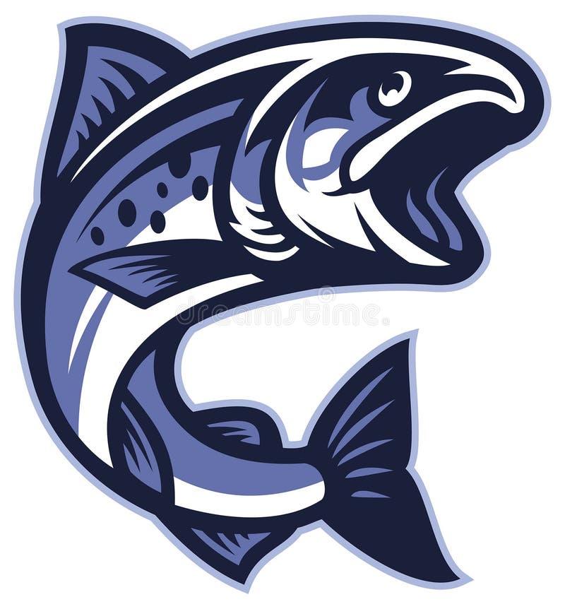 Poissons saumonés illustration libre de droits