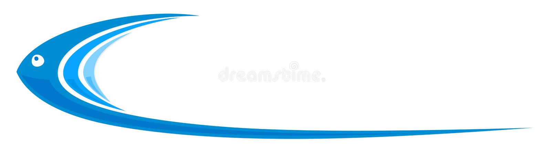 Poissons stylisés de logo illustration stock