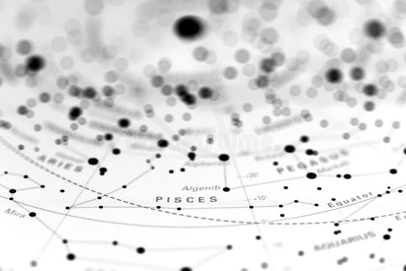 Poissons sur la carte d'étoile image libre de droits