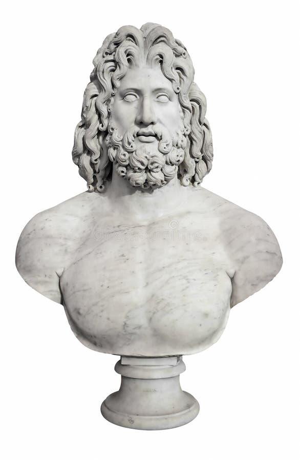 Poitrine antique du Zeus grec d'un dieu photo libre de droits