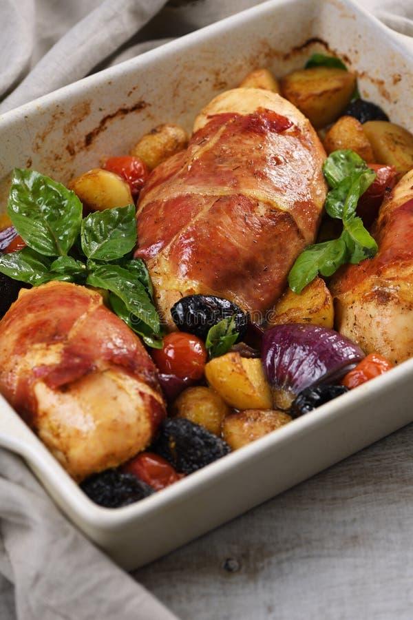 Poitrine de poulet Prosciutto photos libres de droits