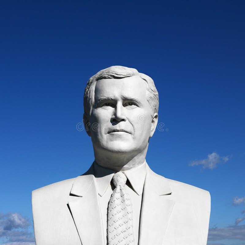Poitrine de sculpture en George Bush en Park du Président, Black Hills, images libres de droits