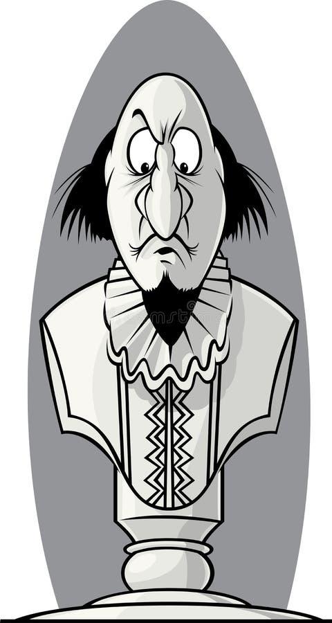 Poitrine de Shakespeare illustration stock