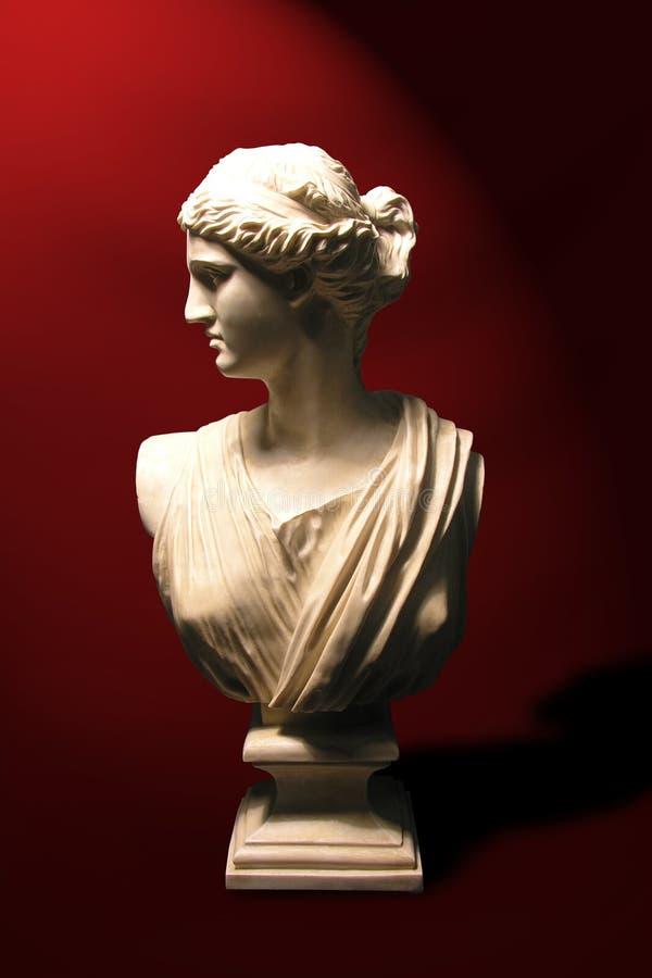 Poitrine de statue d'une déesse romaine photos stock