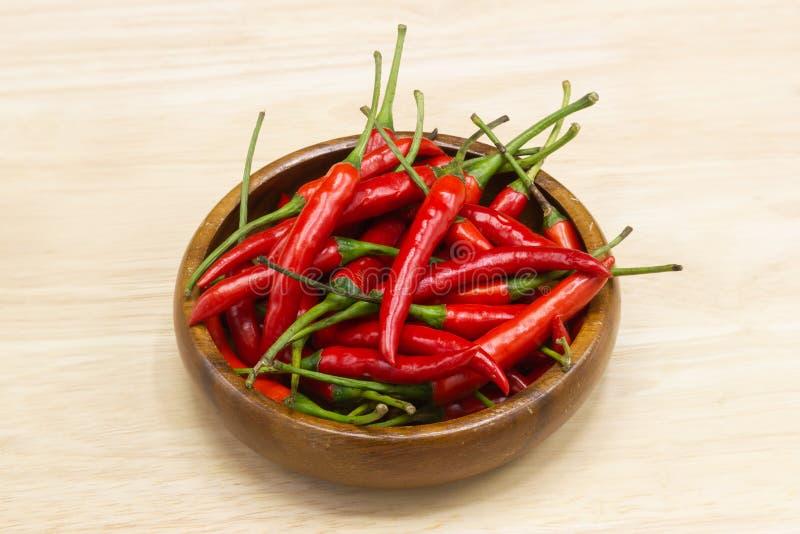 Poivre de piment - les usines de poivre de piment à la nature de la sphère des longues transitoires du rouge pâle image libre de droits