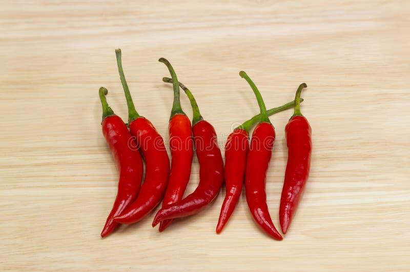 Poivre de piment - les usines de poivre de piment à la nature de la sphère des longues transitoires du rouge pâle image stock