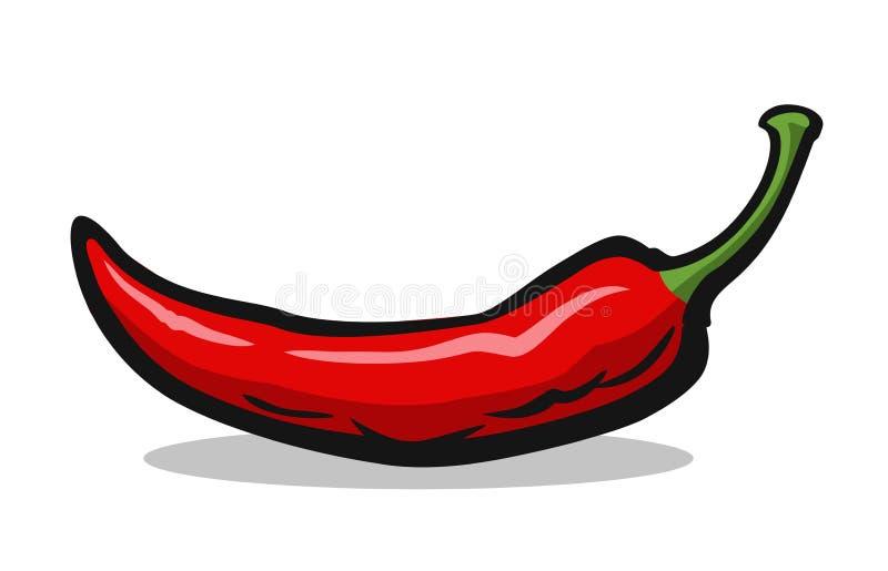 Poivre de /poivron d'un rouge ardent illustration de vecteur