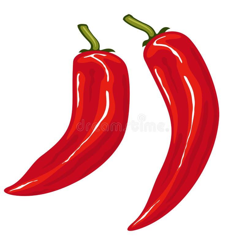 Poivre de /poivron d'un rouge ardent illustration stock