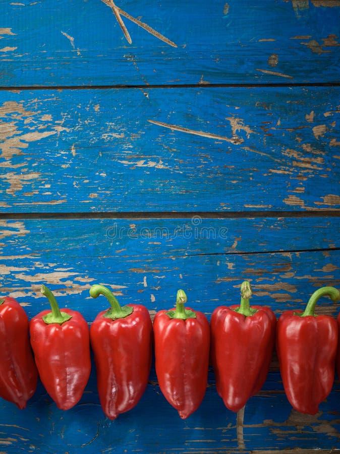 Poivre organique rouge photo stock