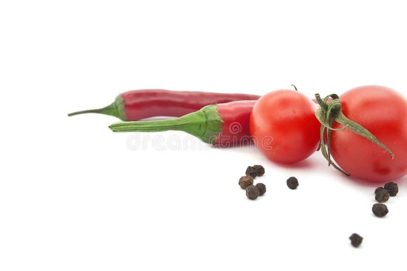 Poivre rouge de tomate et de piment Légumes pour la nourriture mexicaine photos libres de droits