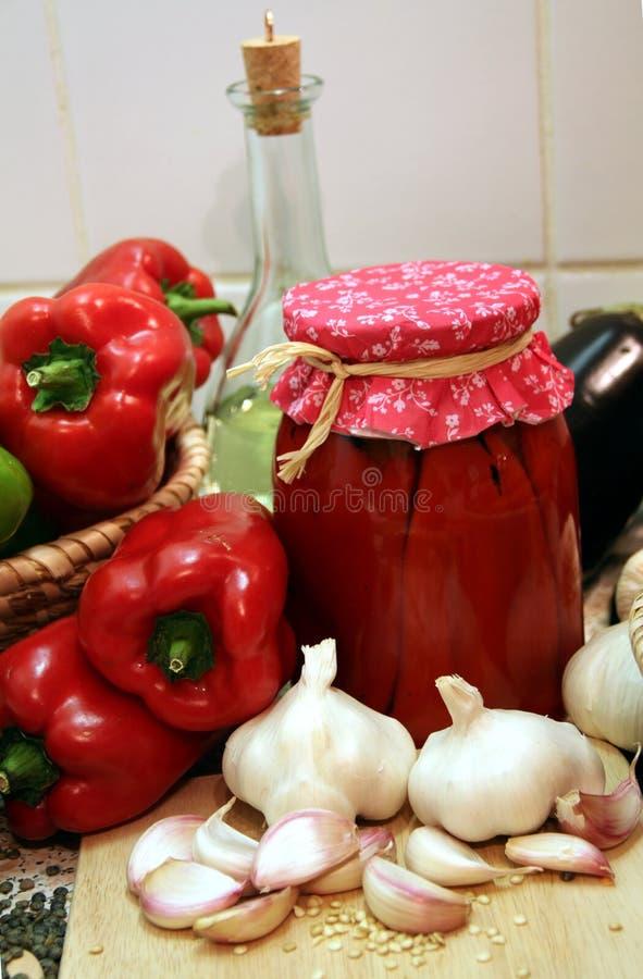 Poivron rouge mariné photos stock