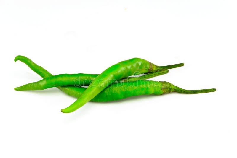 Poivron vert sur le fond blanc images stock