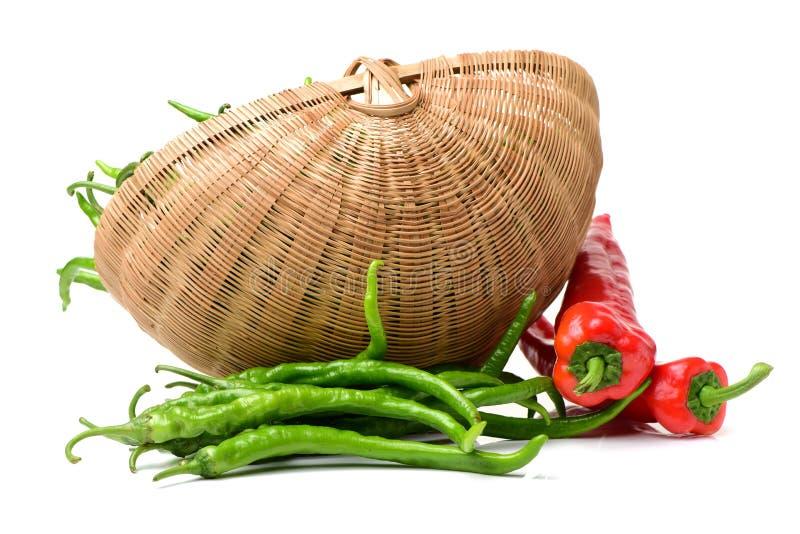 poivrons chauds verts de /poivron rouges images stock