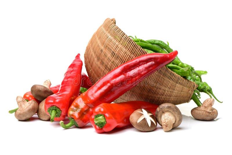 poivrons chauds verts de /poivron rouges photos stock