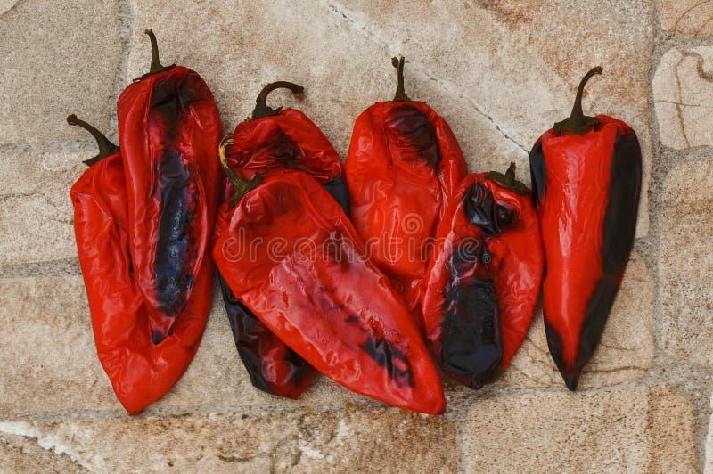 Poivrons cuits au four image stock