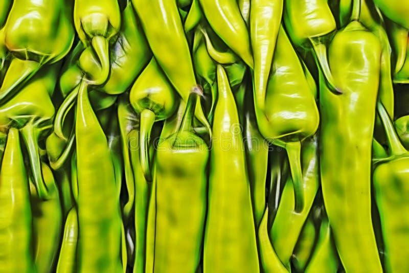 Poivrons dans le marchand de légumes photo stock