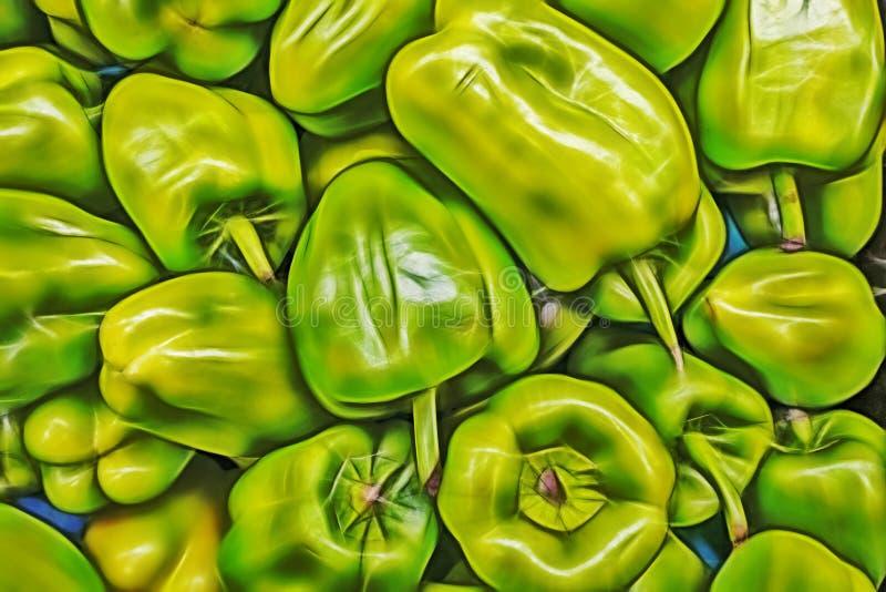 Poivrons dans le marchand de légumes images libres de droits