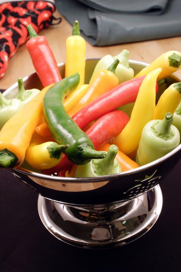 Poivrons de /poivron chaud gastronomes images libres de droits