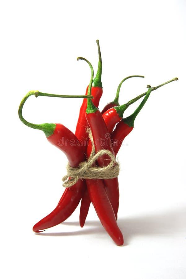 Poivrons de s/poivron d'un rouge ardent frais image stock