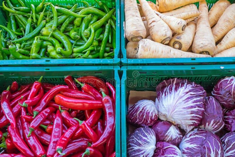 Poivrons et d'autres légumes photographie stock libre de droits