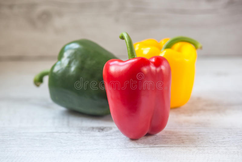 Poivrons, rouge, jaune, orange, verte photo stock