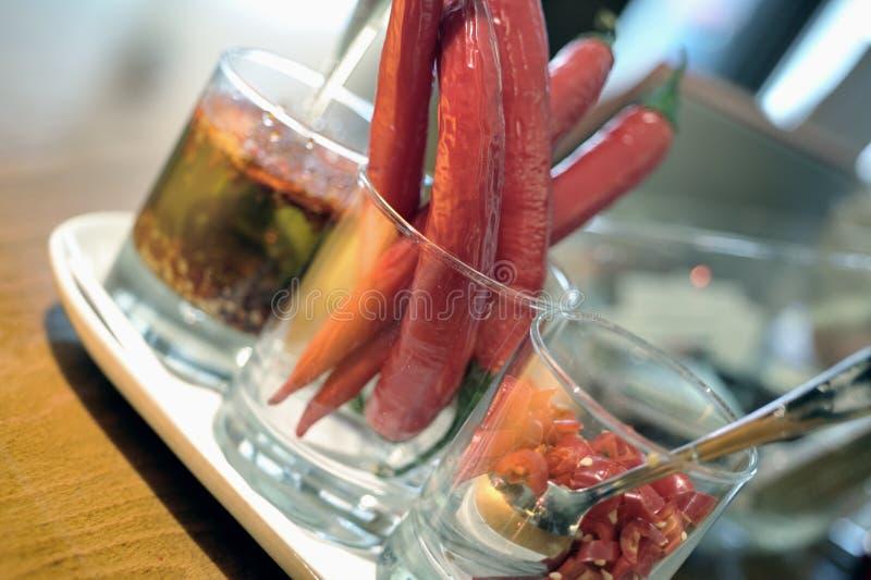 Poivrons rouges épicés photographie stock