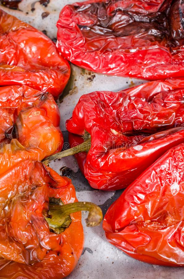 Poivrons rouges grillés images libres de droits
