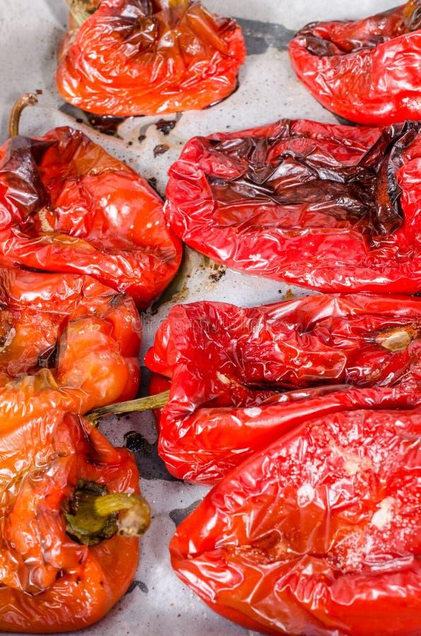 Poivrons rouges grillés photographie stock libre de droits