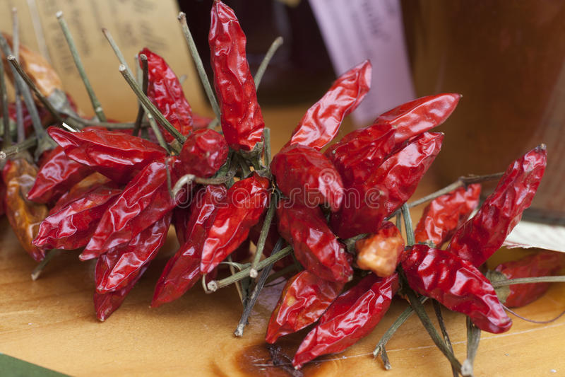 Poivrons rouges secs photos stock