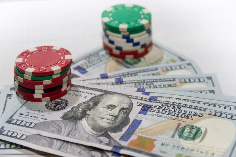 Pojęcie robi pieniądze z uprawiać hazard szczęście obraz stock