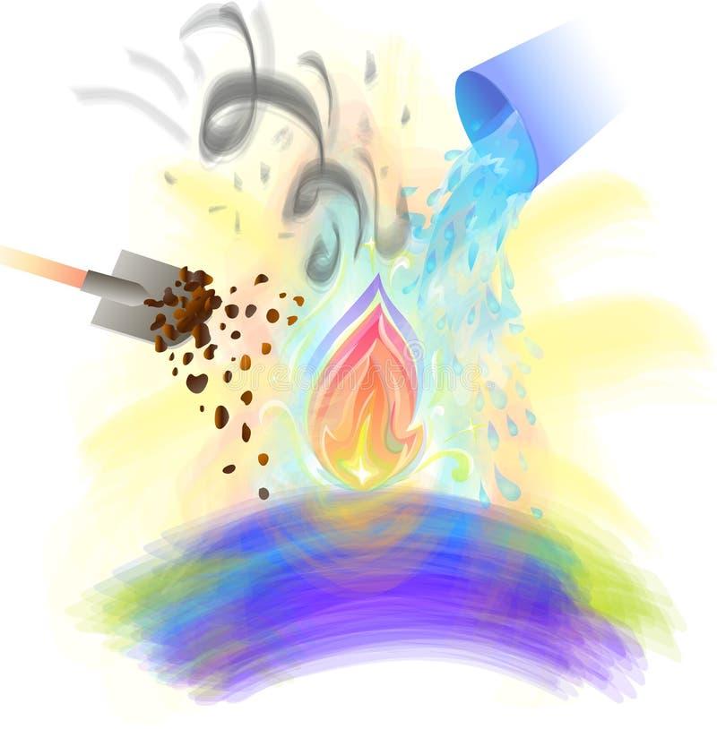 Pojęcie utrzymany boski początek ilustracja wektor